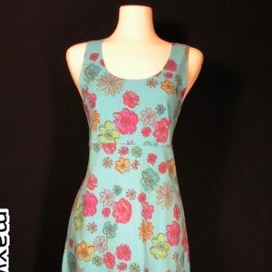 Fresh produce blue pink sundress floral medium new